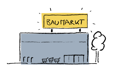 Illustration of a hardware store