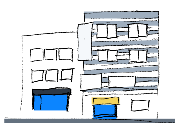 Illustration of an office building