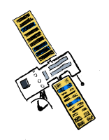 Illustration of a satellite